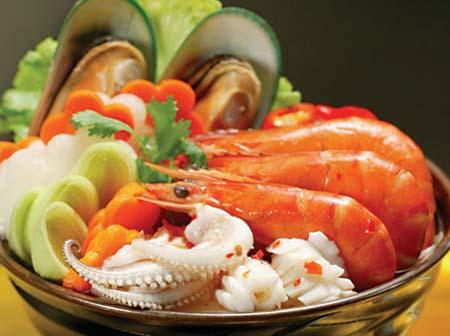 Không nên dùng nhân sâm khi ăn hải sản