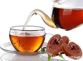 cách pha trà nấm linh chi đào