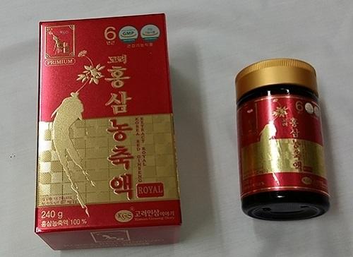 công dụng của cao hồng sâm royal